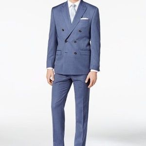 NWT! Ralph Lauren Double Breasted Suit Blue